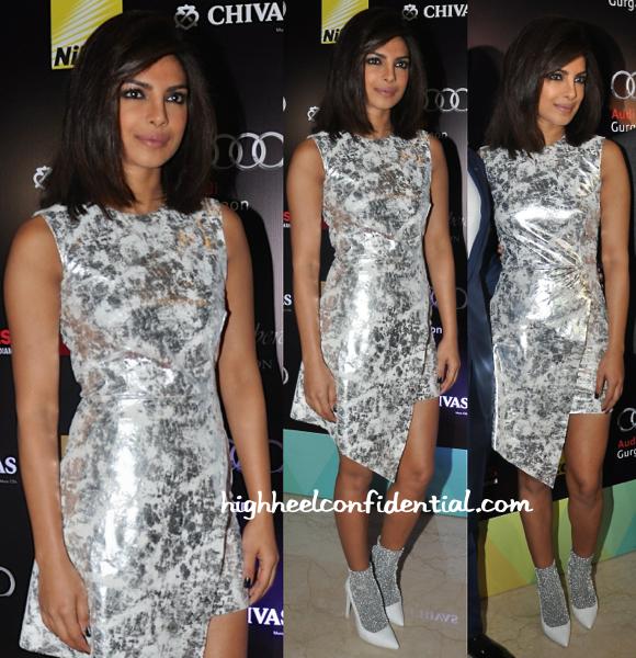 Priyanka Chopra In Zoe Jordan And Jeffery Campbell At HT Delhi's Most Stylish Awards 2015