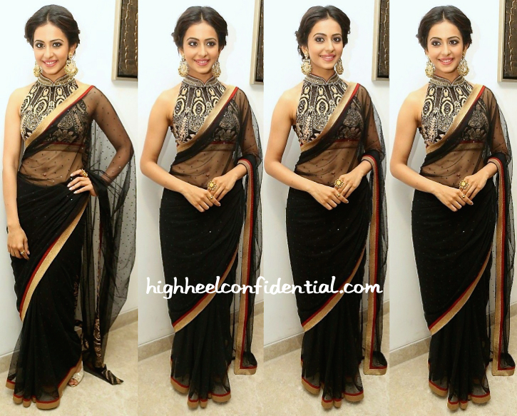 Rakul Preet In Ritu Kumar And Amrapali At 'Kick 2' Music Launch