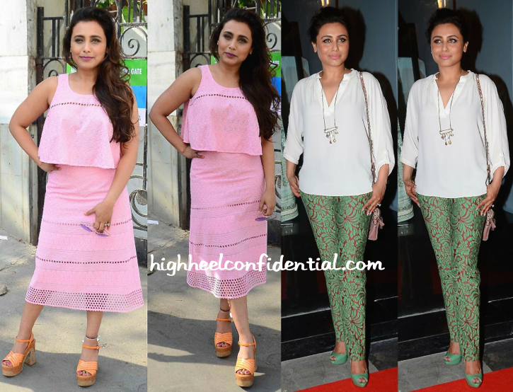 Rani Mukherjee Photographed Post Shoot In Mumbai And At Amy Bilmoria's Store Launch-1
