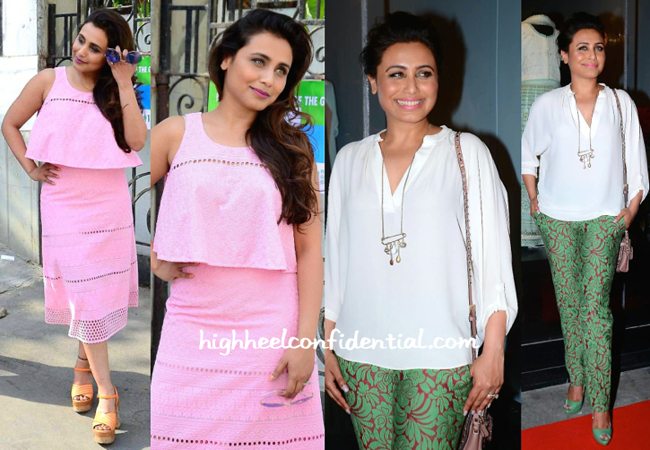 Rani Mukherjee Photographed Post Shoot In Mumbai And At Amy Bilmoria's Store Launch-2