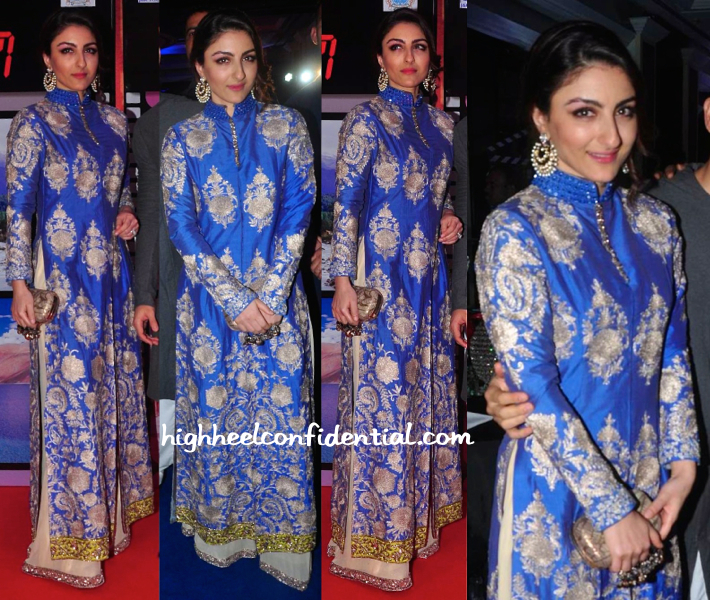 Soha Ali Khan In Manish Malhotra At J&K 70MM Event-1