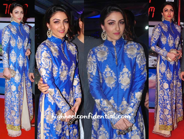 Soha Ali Khan In Manish Malhotra At J&K 70MM Event-2