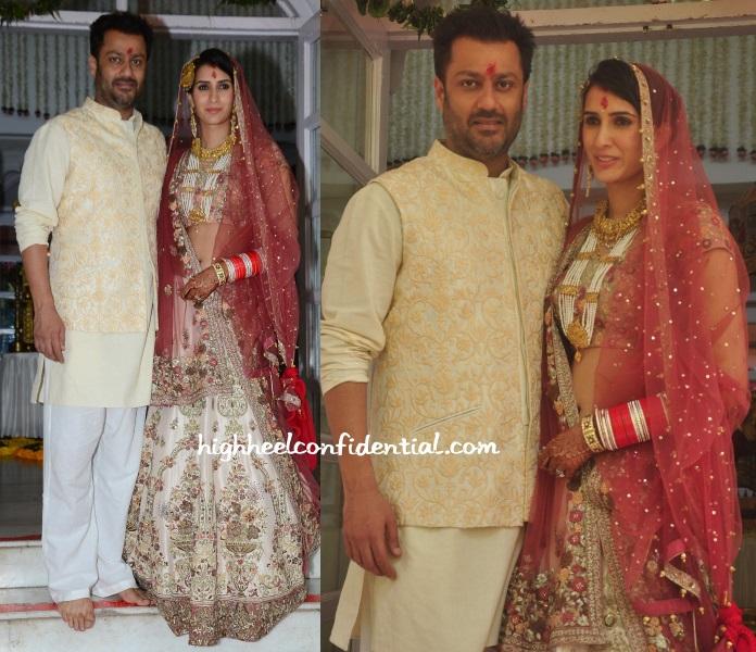 abhishek-kapoor-pragya-yadav-wedding-falguni-shane-peacock