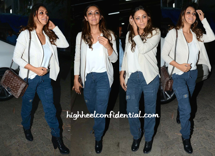gauri khan at bombay velvet screening