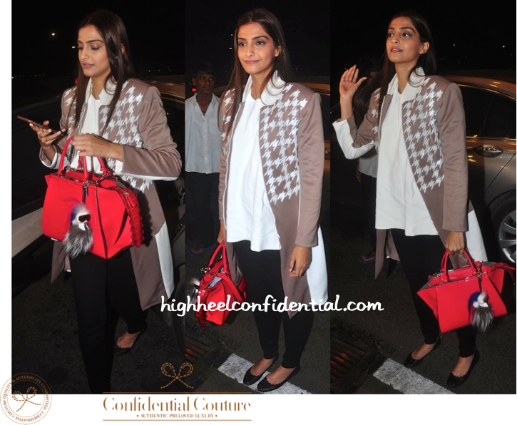 sonam kapoor-cannes 2015-mumbai airport-fendi bag-1