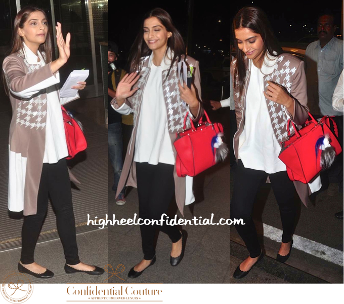 sonam kapoor-cannes 2015-mumbai airport-fendi bag-2