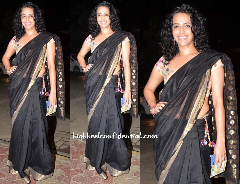 swara-bhaskar-mukesh-chhabra-birthday-bash-sari