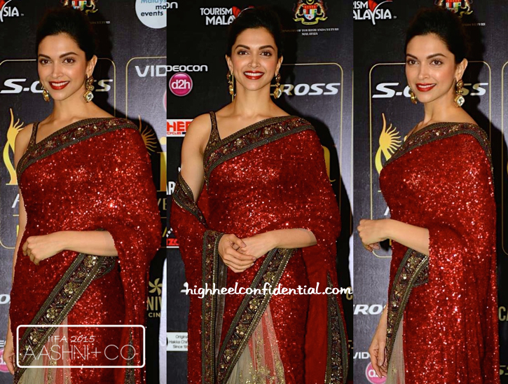 Deepika Padukone In Sabyasachi At IIFA 2015-2