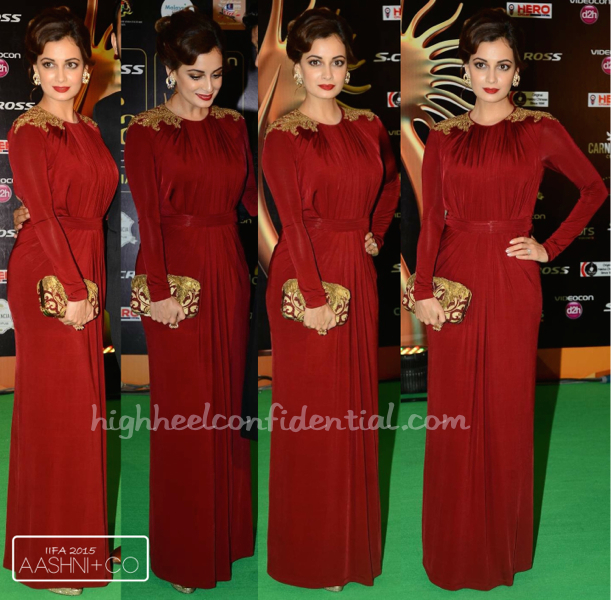 Dia Mirza In Shantanu And Nikhil And Farah Khan Ali Fine Jewelry At IIFA 2015