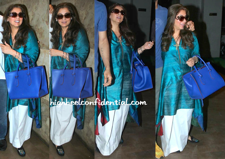 Dimple Kapadia In Payal Khandwala At 'Dil Dhadakne Do' Screening