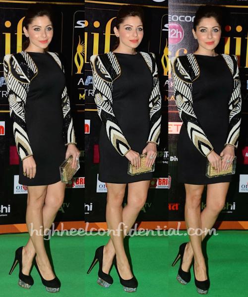 Kanika Kapoor At IIFA Rocks And At IIFA Fashion Extravaganza 2015 In Rose Room Couture