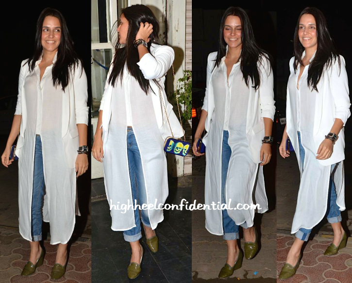 Neha Dhupia At Mukesh Chabbra's Birthday Bash