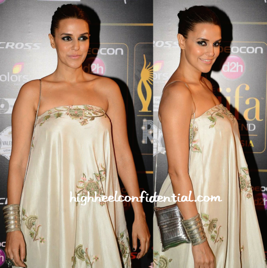 Neha Dhupia In Anamika And Amrapali At IIFA Rocks 2015