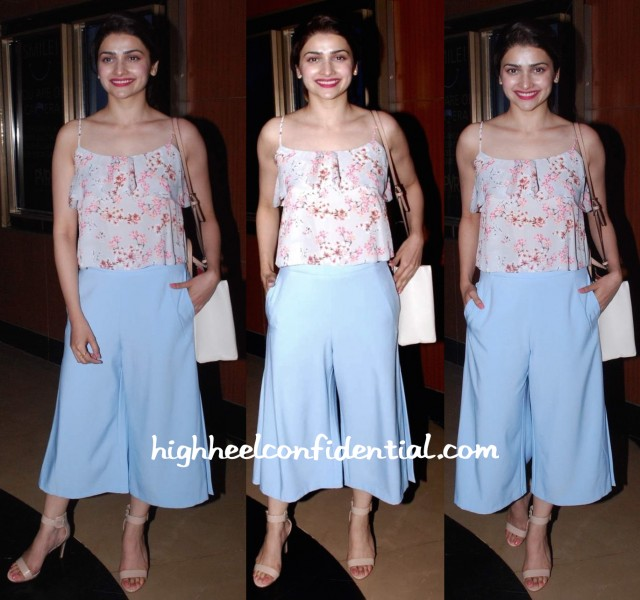 Prachi Desai In Miss Selfridges And Zara At 'Sugar Salt Ani Prem' Screening-1