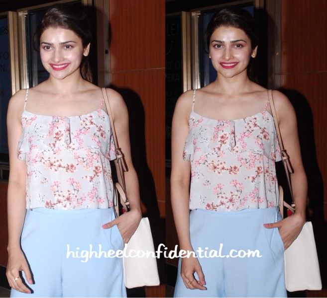 Prachi Desai In Miss Selfridges And Zara At 'Sugar Salt Ani Prem' Screening-2