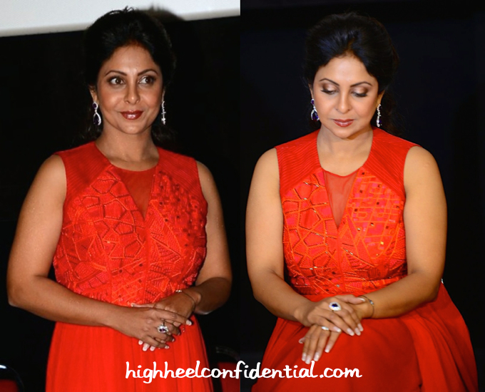 Shefali Shah In Nachiket Barve At 'Dil Dhadakne Do' Screening At IIFA 2015-2
