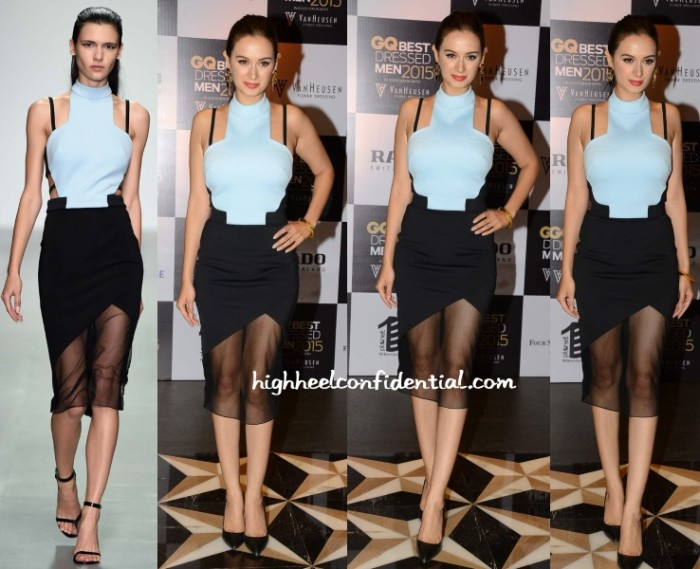 evelyn-sharma-david-koma-gq-best-dressed-men-2015