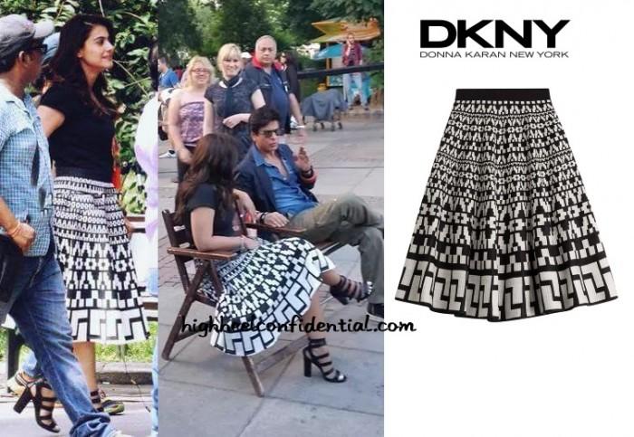 kajol-dilwale-dkny-black-skirt