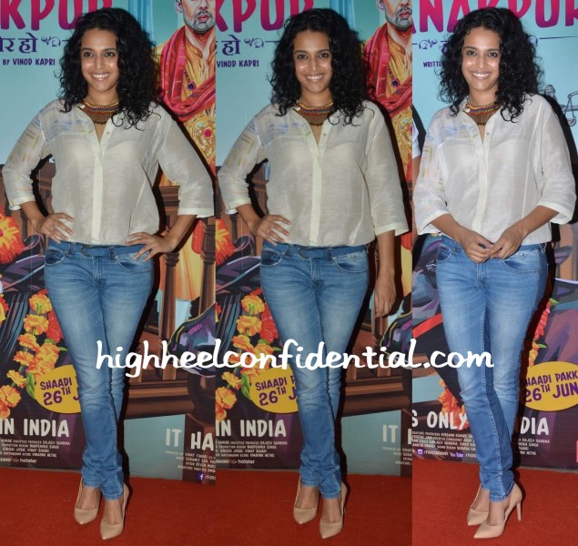 swara bhaskar in anavila at miss tanakpur screening