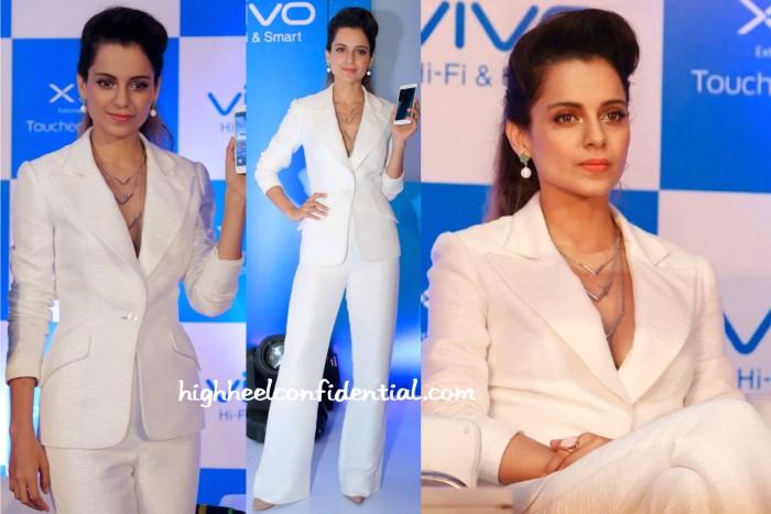 Kangana Ranaut In Theia Couture And Isharya At Vivo X5 Launch-1