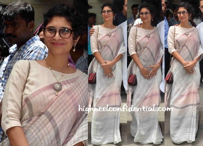 Kiran Rao Wears An Eka Sari As She And Aamir Khan Greet The Media On Eid-2