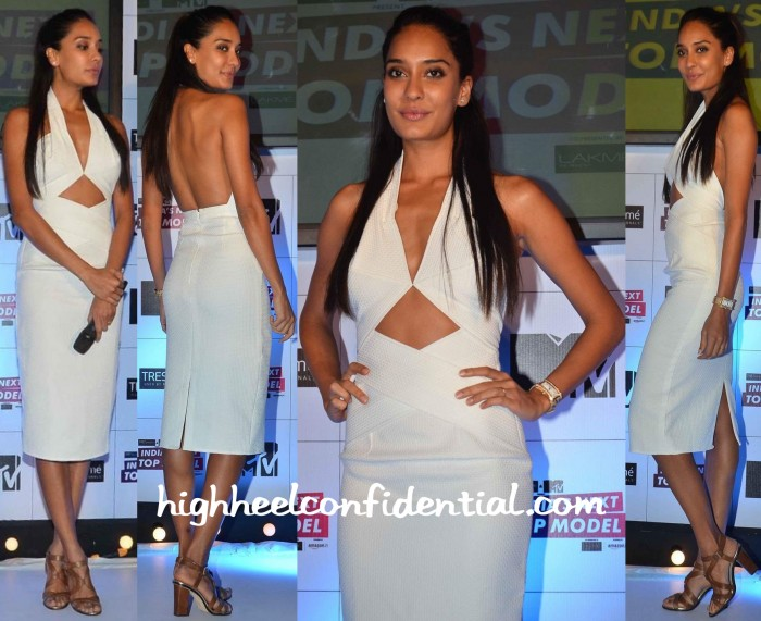 Lisa Haydon In Deme By Gabriella At India's Next Top Model Launch-1