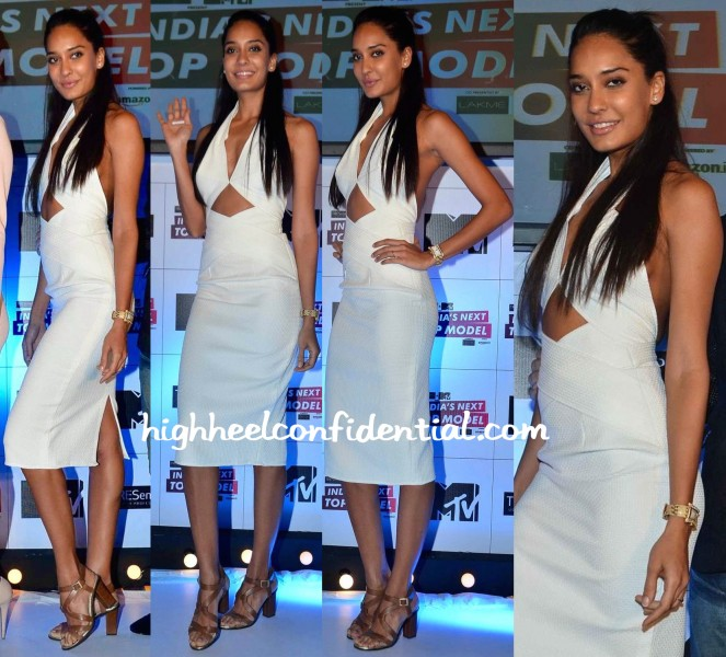 Lisa Haydon In Deme By Gabriella At India's Next Top Model Launch-2