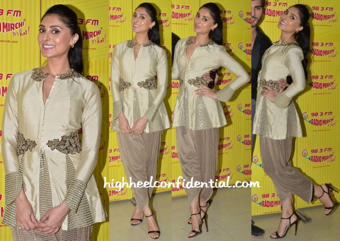 Pernia Qureshi In Ridhima Bhasin At Jaanisaar Promotions