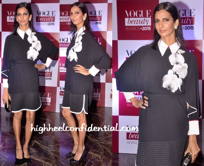 Poorna Jagannathan In Fendi At Vogue Beauty Awards 2015