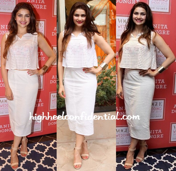 Prachi Desai Wears Anita Dongre To Vogue Bridal Studio 2015-1