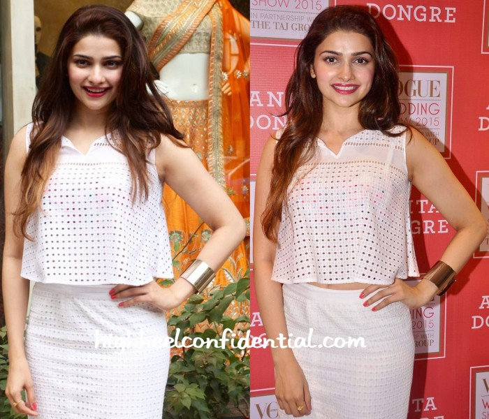Prachi Desai Wears Anita Dongre To Vogue Bridal Studio 2015-2