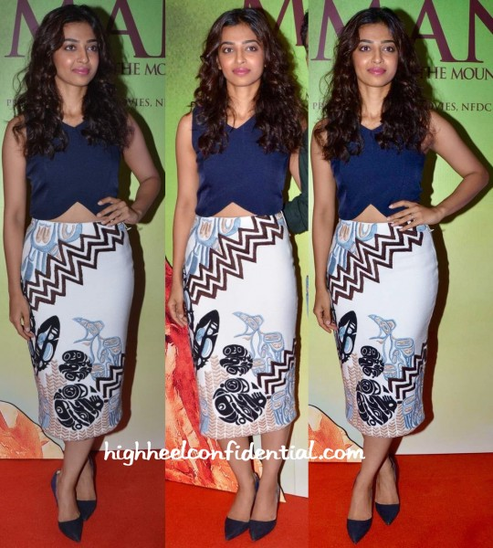 Radhika Apte In Madison And Babita Malkani At Manjhi Mountain Man Trailer Launch