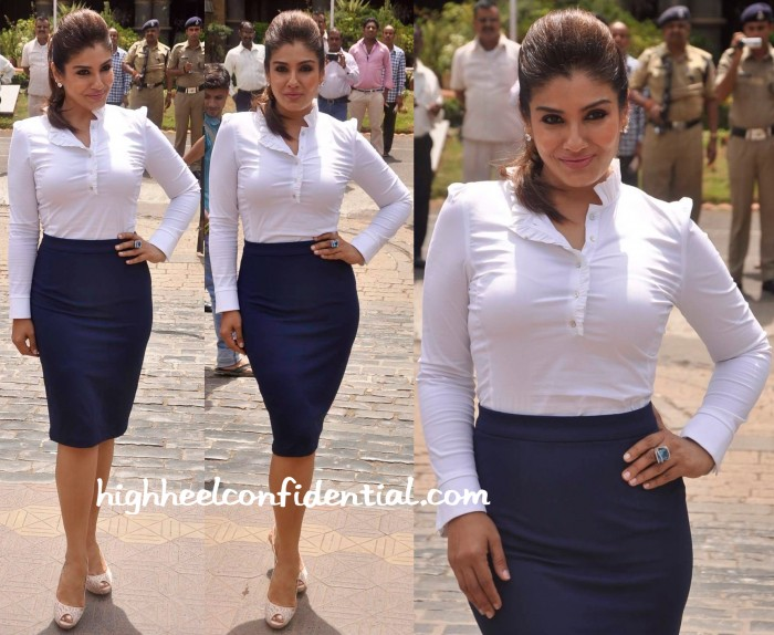 Raveena Tandon In Zara And Hema Kaul At Times Of India Road Safety Initiative