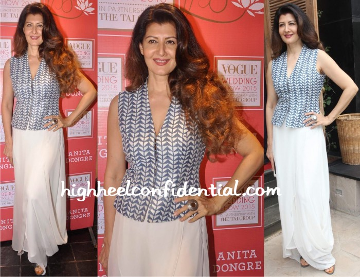 Sangeeta Bijlani At Vogue Bridal Studio 2015