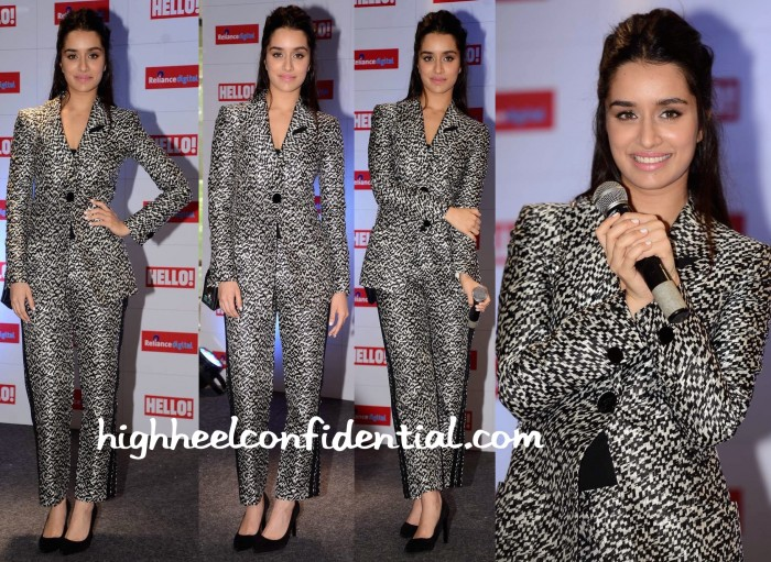 Shraddha Kapoor In Giorgio Armani At Hello! Magazine's Issue Launch-1
