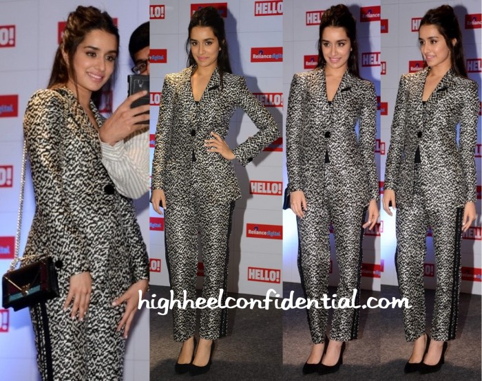 Shraddha Kapoor In Giorgio Armani At Hello! Magazine's Issue Launch-2