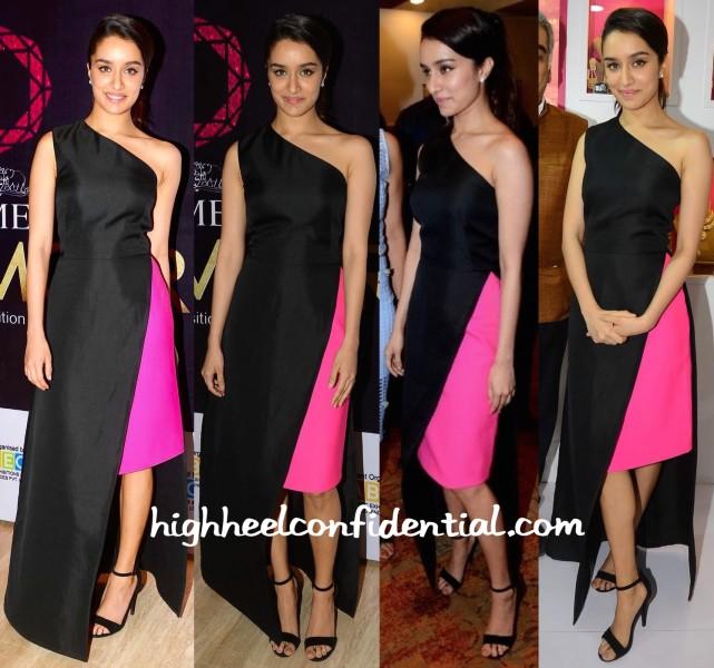 Shraddha Kapoor Inaugurates Times Glamour Exhibition Wearing Osman-1