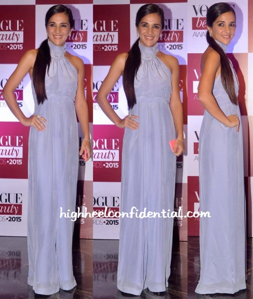 Tara Sharma Saluja In Deme By Gabriella At Vogue Beauty Awards 2015