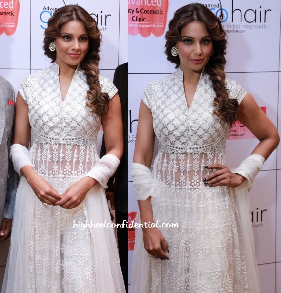 bipasha basu in anita dongre at abc clinic launch in chennai-2