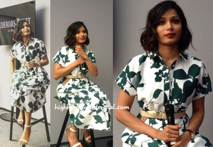 freida-pinto-kate-spade-audimars-piguet-press-meet