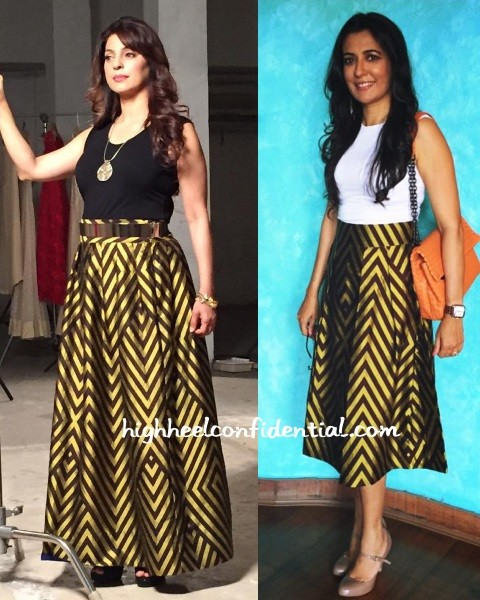 juhi-chawla-mini-mathur-payal-khandwala-skirt