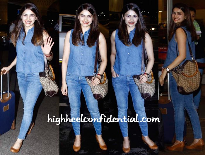 prachi desai photographed at mumbai airport
