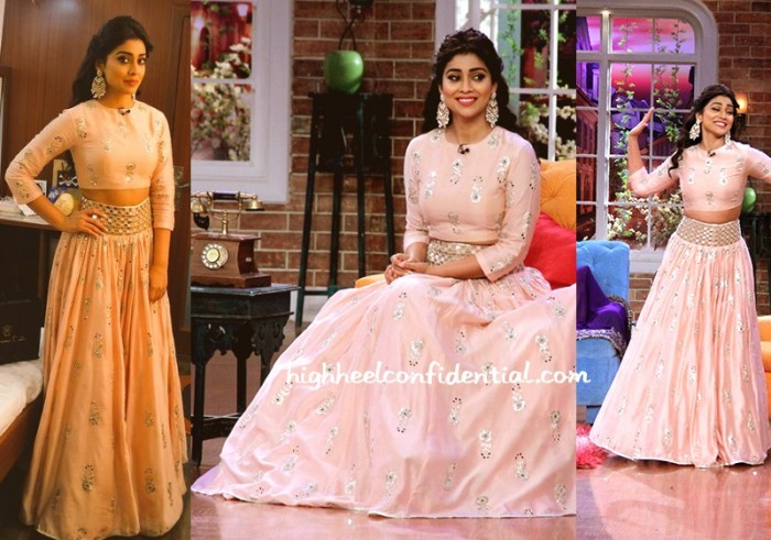 shriya-saran-payal-singhal-comedy-nights-drishyam