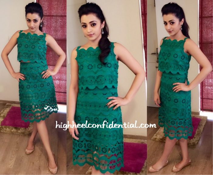 trisha krishnan in madison at Sakalakala Vallavan promotions