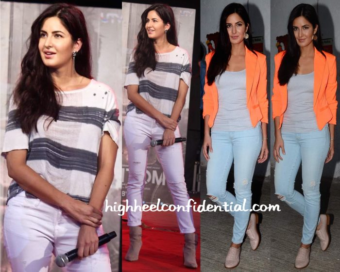 Katrina Kaif At Umang College Festival 2015 And On Indian Idol Junior Sets For Phantom Promotions-1