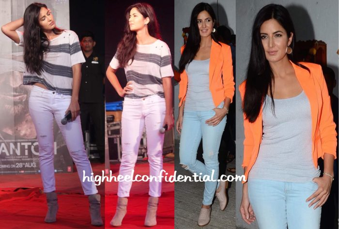 Katrina Kaif At Umang College Festival 2015 And On Indian Idol Junior Sets For Phantom Promotions-2