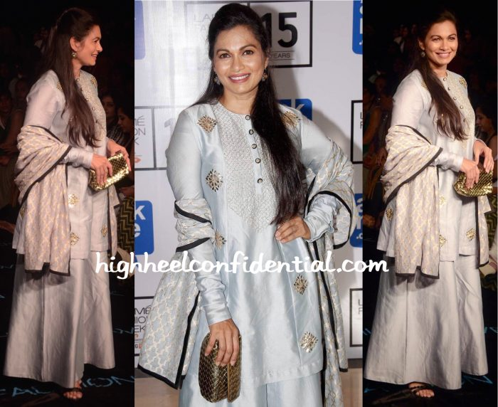 Maria Goretti In Payal Singhal And Bottega Veneta At Lakme Fashion Week Winter:Festive 2015-1