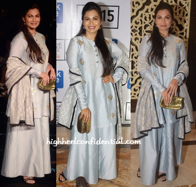 Maria Goretti In Payal Singhal And Bottega Veneta At Lakme Fashion Week Winter:Festive 2015-2