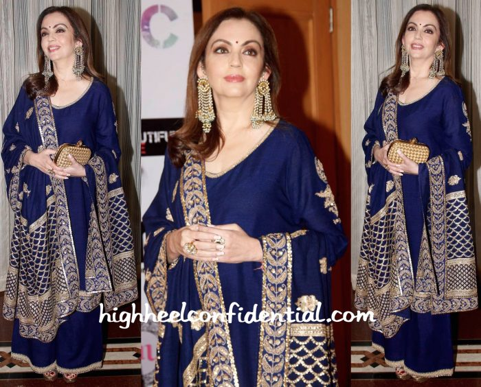 Nita Ambani In Anuradha Vakil And Bottega Veneta At Set Beautiful Free Event-2