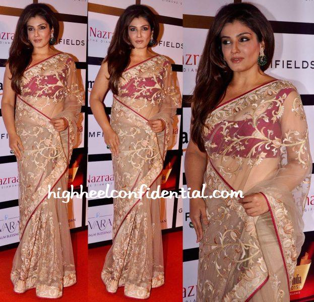 Raveena Tandon In Rimple & Harpreet Narula At Retail Jeweller India Awards 2015-2